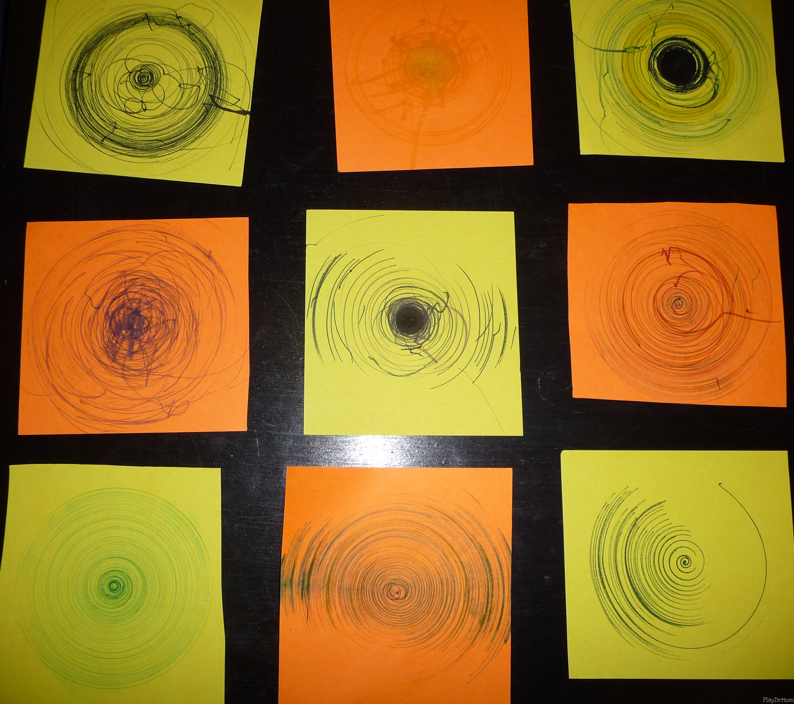 Our Collective Spin Art Spirals