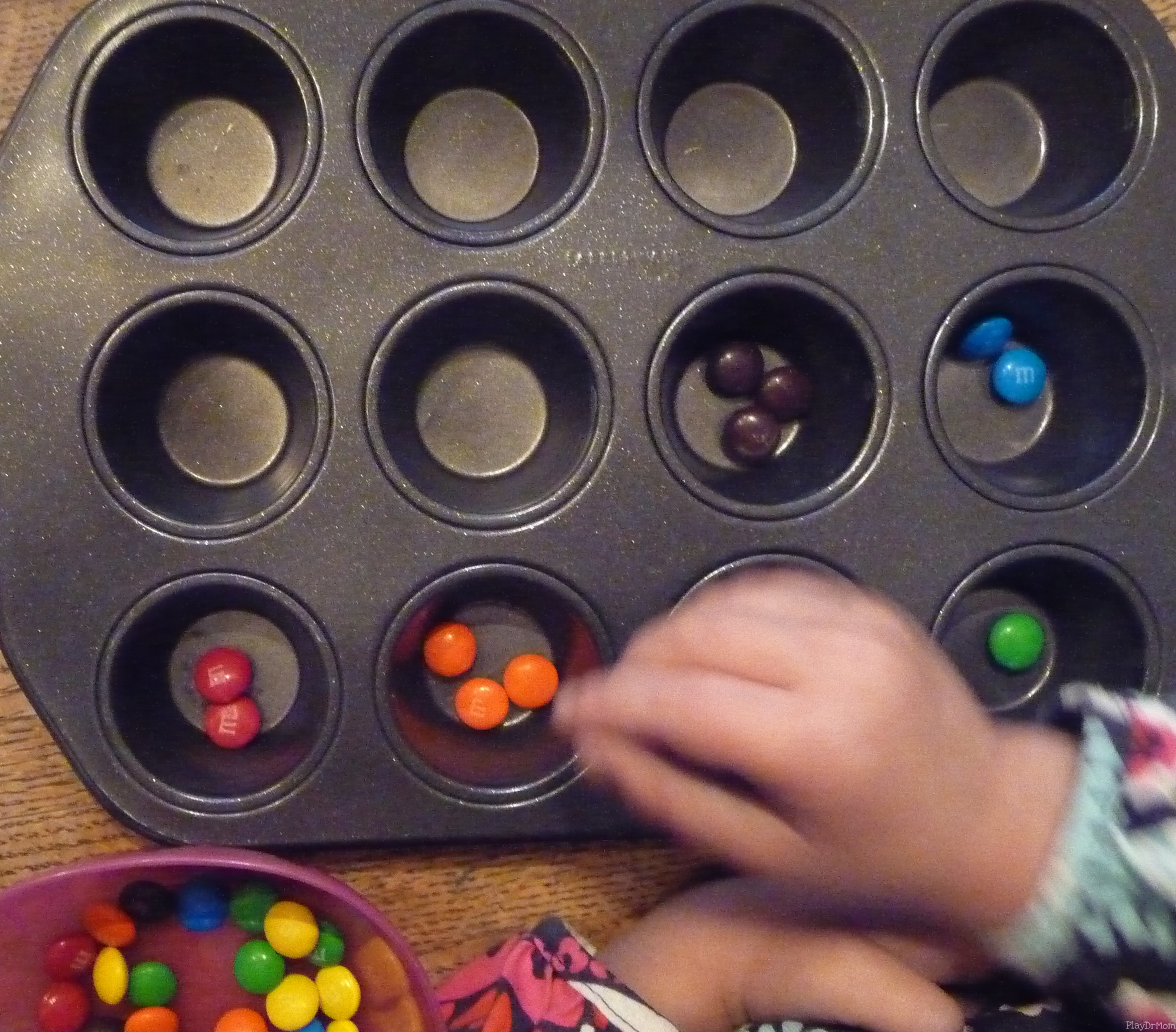 Color sorting m&m's