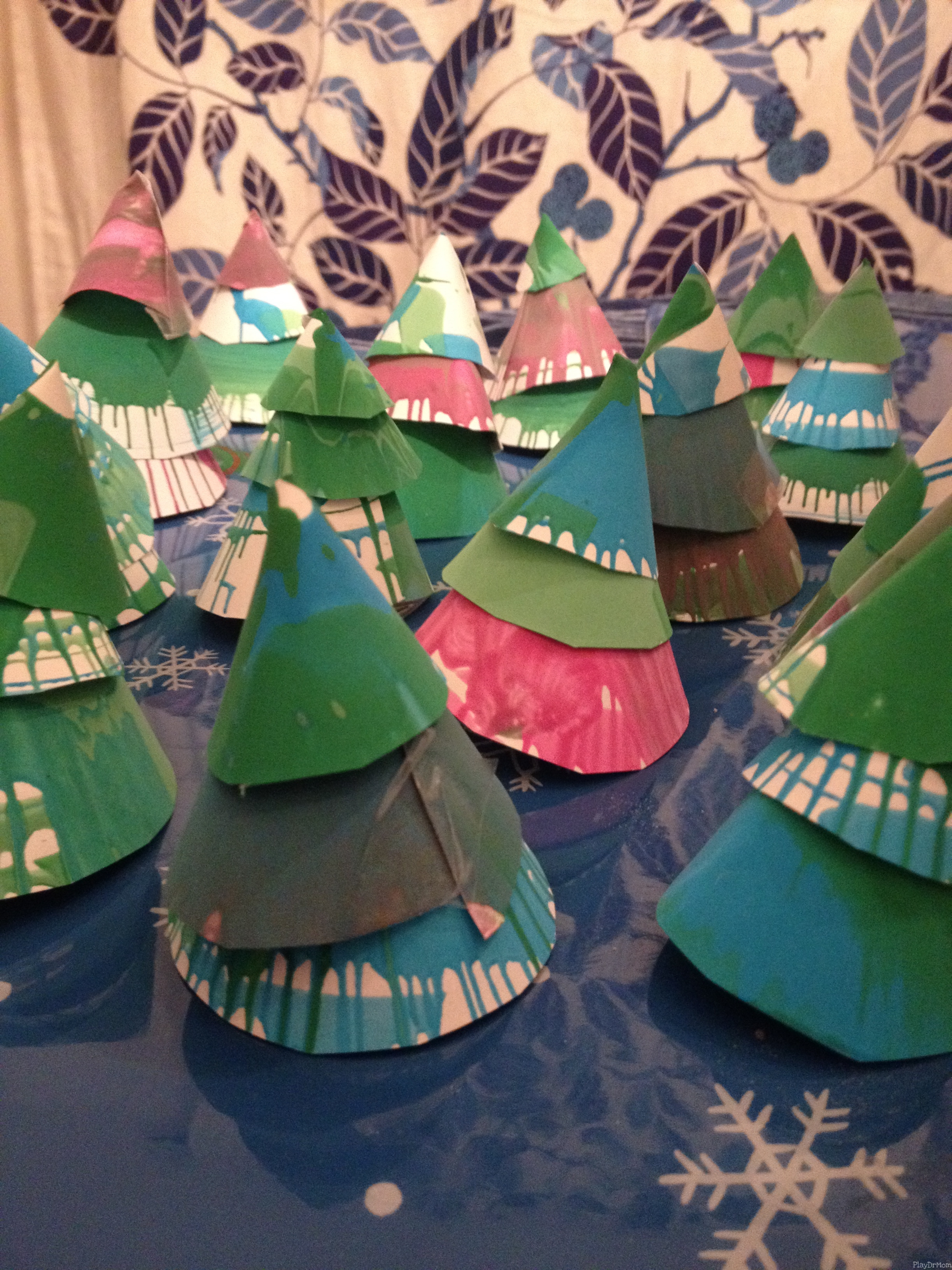 A forest of Spin Art Trees