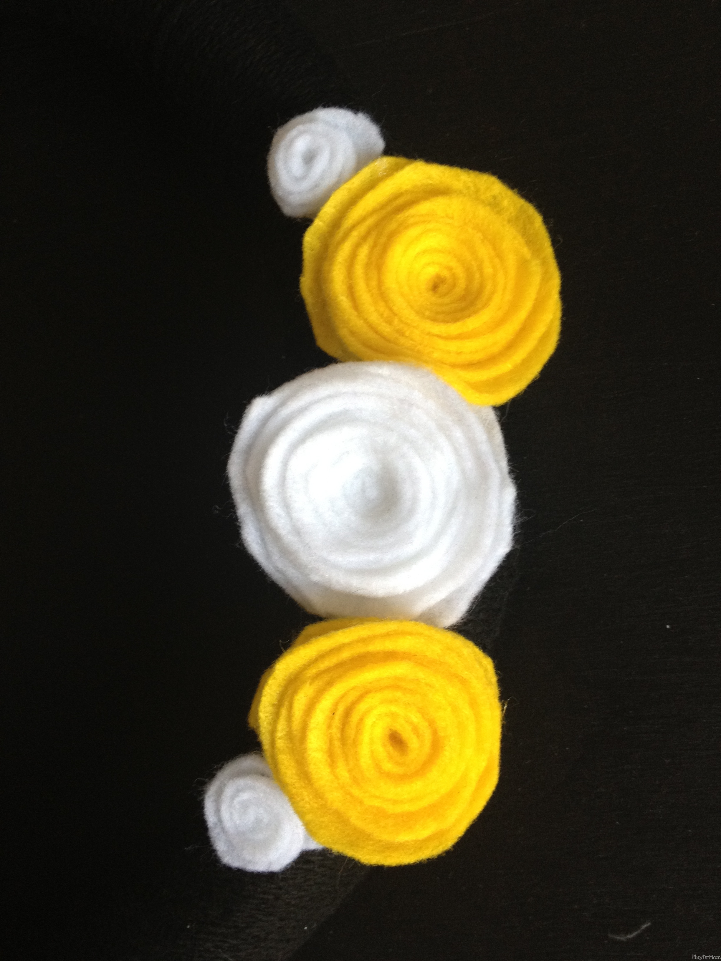 Close-up of Felt Flowers