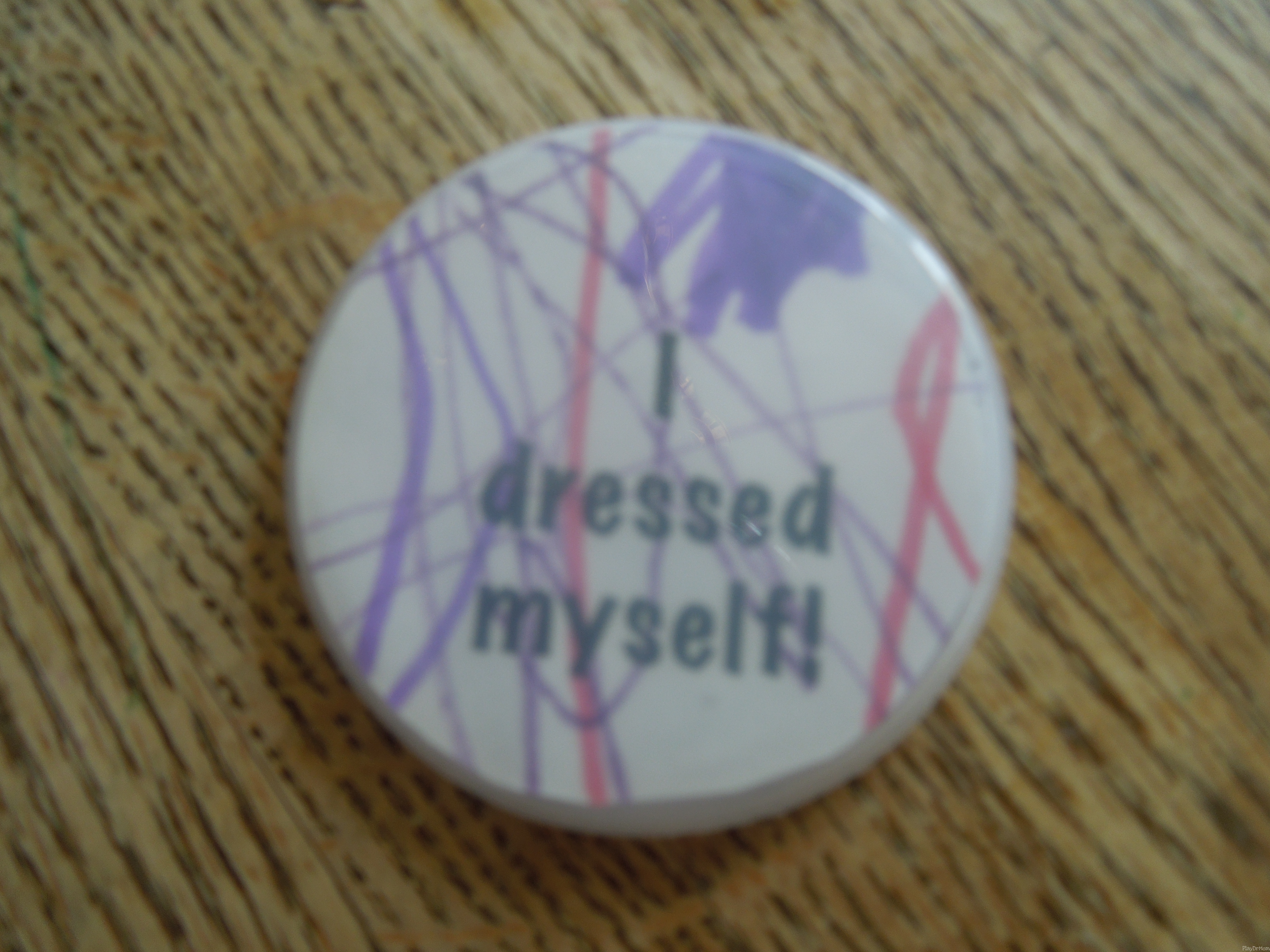 I dressed myself! button