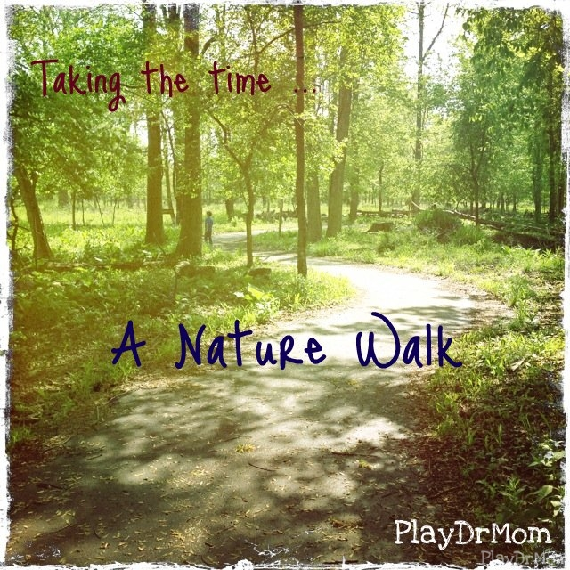 taking time to take a walk