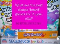 classic board games to play with three year olds and why