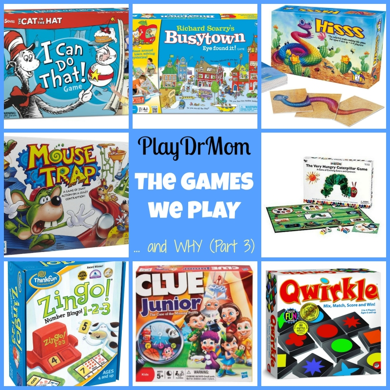 PlayDrMom ... The GAMES we PLAY and WHY (part 3)