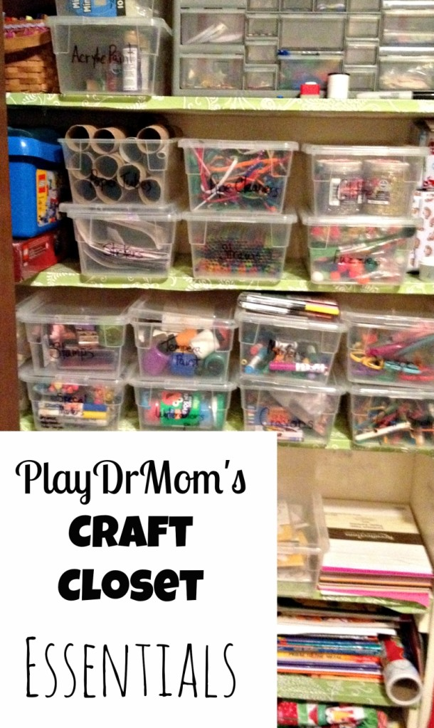 PlayDrMom's Craft Closet Essentials .... everything you need for crafting with kids.  Great for gift ideas too!