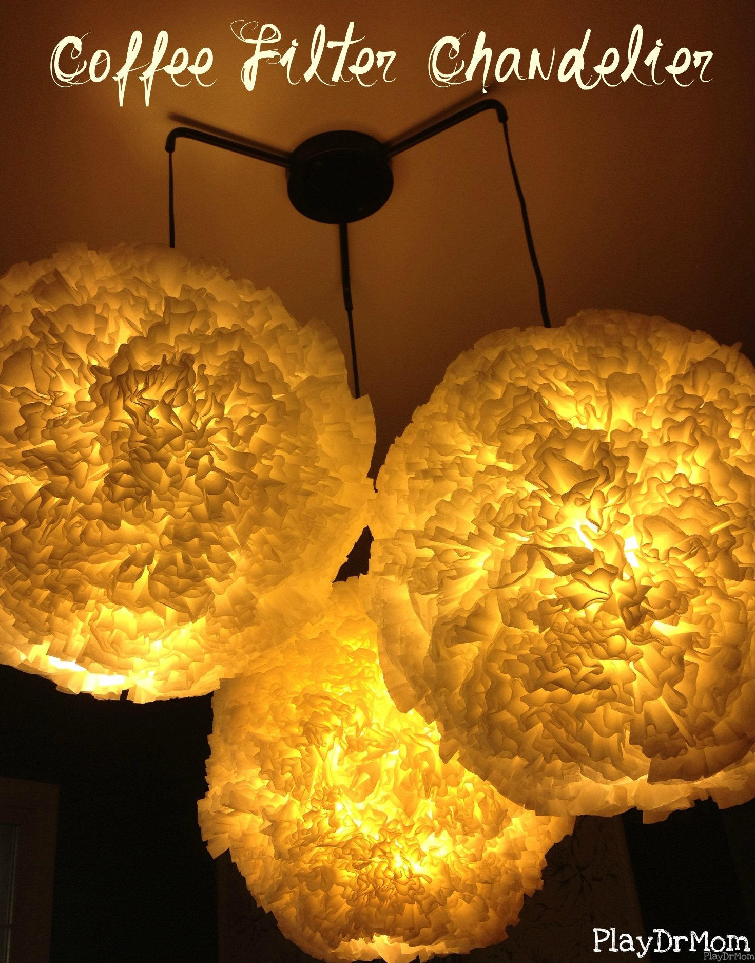 coffee filter chandelier
