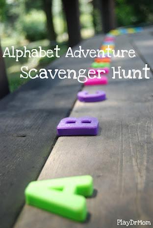 alphabet adventure scavenger hunt