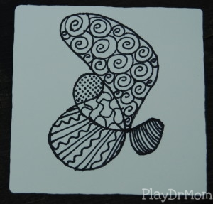 completed Zentangle