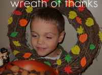 wreath of thanks ... and a collection of Thanksgiving ideas from PlayDrMom