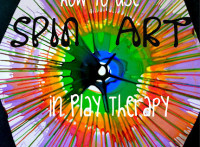 Using spin art as a therapeutic tool