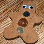gingerbread playdough man