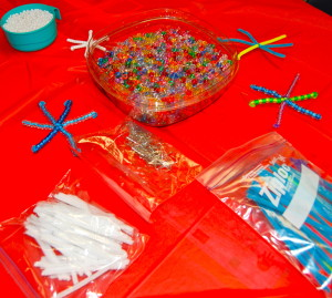 materials for beaded snowflakes
