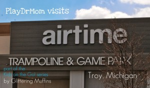 Kids on the Go!  PlayDrMom jumps around at AirTime!