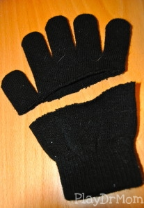 cut a glove in half