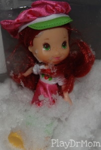 Strawberry Shortcake in the snow