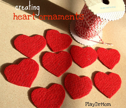 Heart Ornaments For Our Valentine S Day Tree Play Dr Mom
