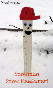 make a snow measurer