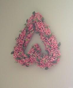 upside down heart wreath