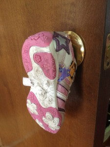 shoe on the doorknob