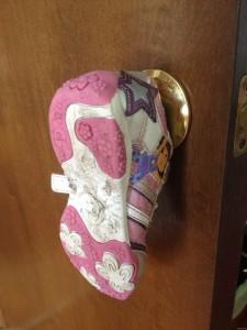 shoe on the doorknob
