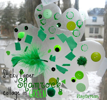 sticky paper shamrock