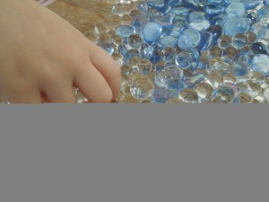 water beads and glass gems