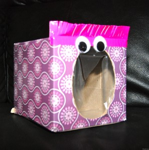 Tissue Box Monster for Learning