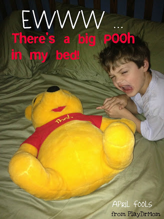 Pooh in the bed