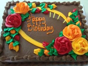 impromptu birthday cake