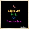 Fun Alphabet party for young kids ... great for lunch on the last day of school!