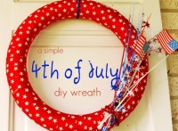 PlayDrMom shares a simple wreath to make for the 4th of July