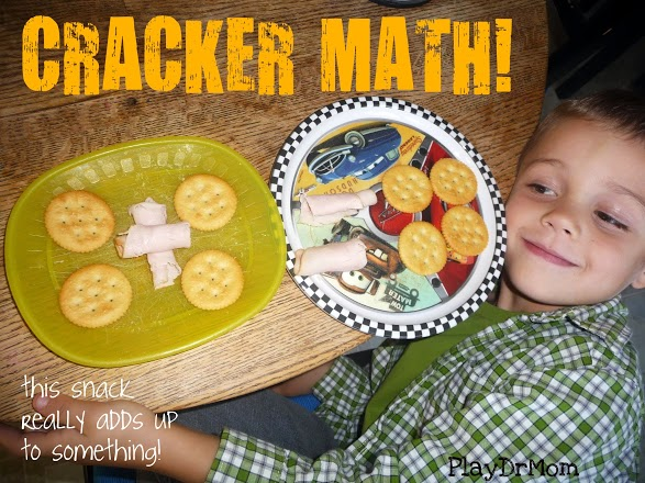 PlayDrMom's son came up with this one when he was five!  A great way to have fun with math!
