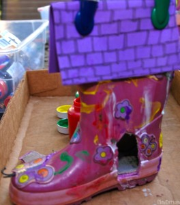 making a door on the fairy house