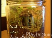 PlayDrMom shares how to create a simple indoor fairy garden terrarium.