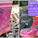 PlayDrMom turns a boot into a Fairy House!