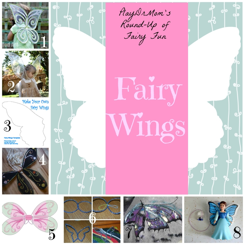Part of PlayDrMom's Round-Up of Fairy Fun: fairy wings