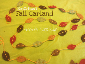 Leaf Garland from PlayDrMom