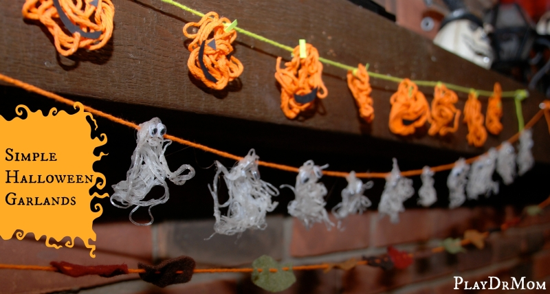 Simple Halloween Garlands from PlayDrMom