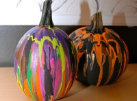 PlayDrMom's pour paint pumpkins