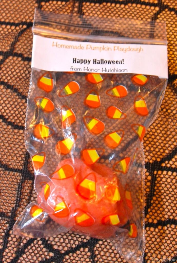 Pumpkin Playdough treat
