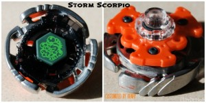 Storm Scorpio Customized Beyblade