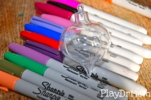 Sharpies and a Clear Plastic Ornament