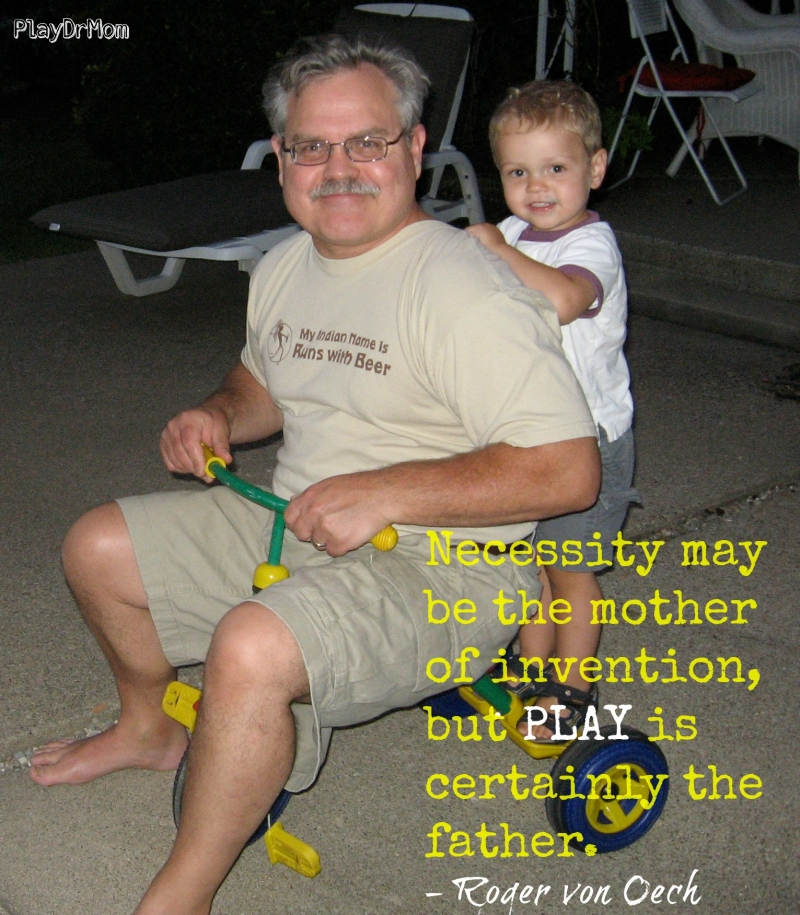 PlayDrMom highlights the Importance and Power of Play -  the father of invention