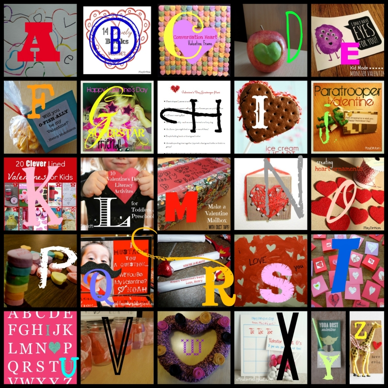 PlayDrMom features the ABCs of Valentine's Day