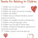 Landreth's Tenets for Relating to Children