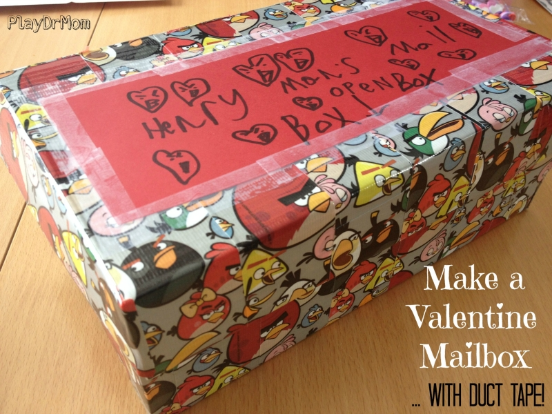 Valentine Mailbox ... with Duct Tape!