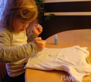 painting the glow in the dark shirt from Together Box