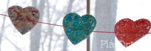 Paper Heart Doily close up