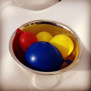 frozen water filled balloons