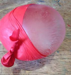 peeling off the balloon